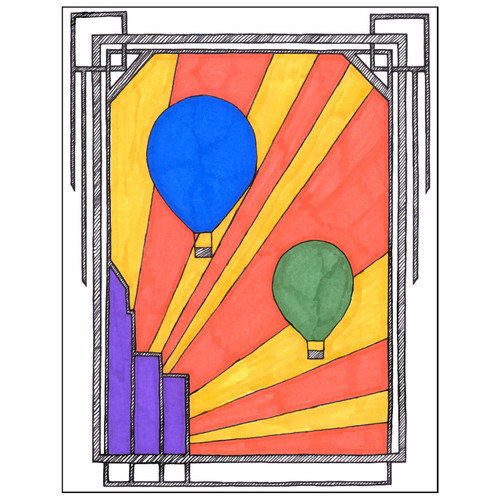Art Deco Hot Air Balloon