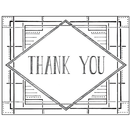 Deco Thank You card