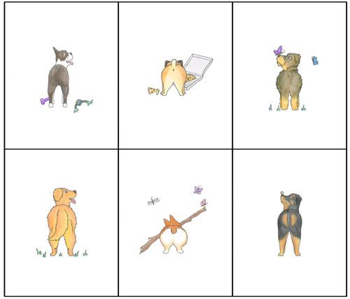 Dog Butt Card Set