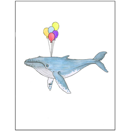 Whale with Balloons