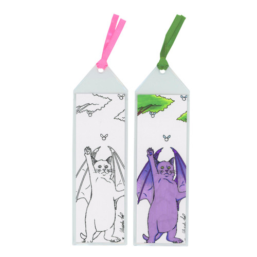 Bat Cat bookmark