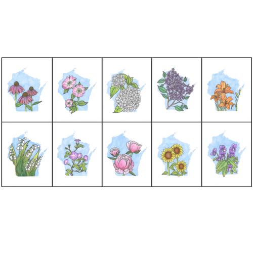 Wisconsin Floral Set