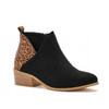 Corkys Port Black/Leopard Ankle Boot