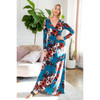 Surplice Floral Maxi Dress with Pockets