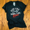 Diva Like Dolly, Rebel Like Reba - Vintage Black Tee