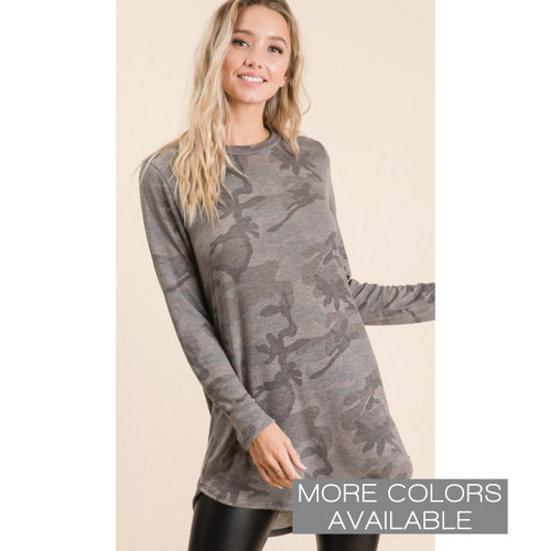 Camo Lightweight French Terry Top