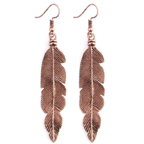Feather Etched Earrings
