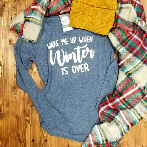 Wake Me Up When Winter Is Over - Ladies Raglan Tee