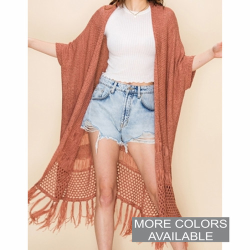Knit Duster with Tassels