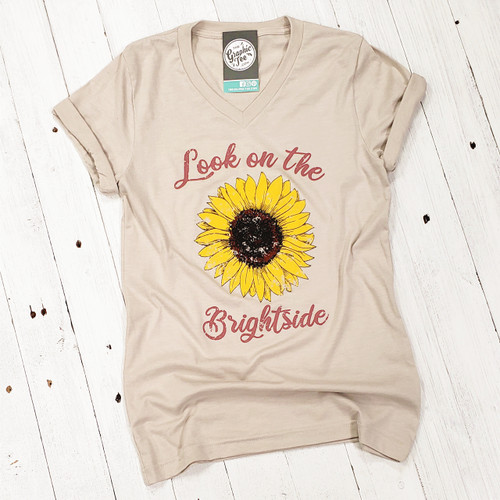 Look on the Brightside - V-Neck Tee