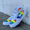 Neon Striped 3/4 Custom Painted AF1 Sneakers