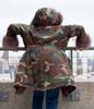 Ladies Fur Lined Camouflage Parka Jacket
