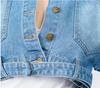 Cropped Belted Denim Jacket