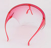 Red Anti Fog Bubble Face Shield