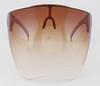 Brown Anti Fog Bubble Face Shield