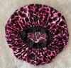 Pink Leopard Patterned Sleep Cap