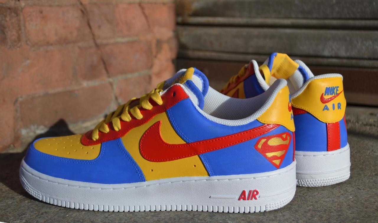 REMIXDAKICKZ Superman Custom Air Force One Sneakers