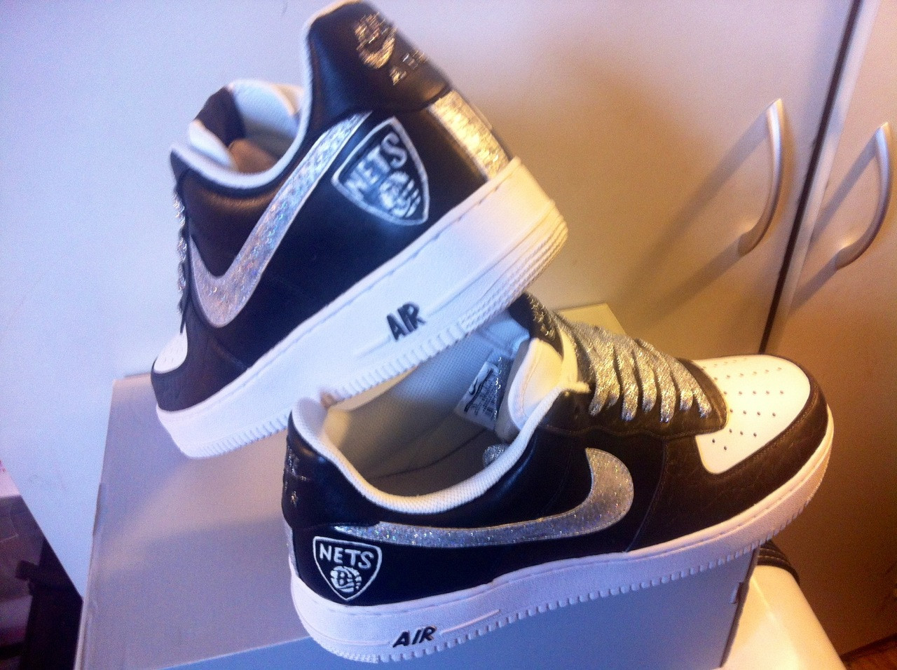 Brooklyn Nets Custom Remixdakicks Airforce One Sneakers