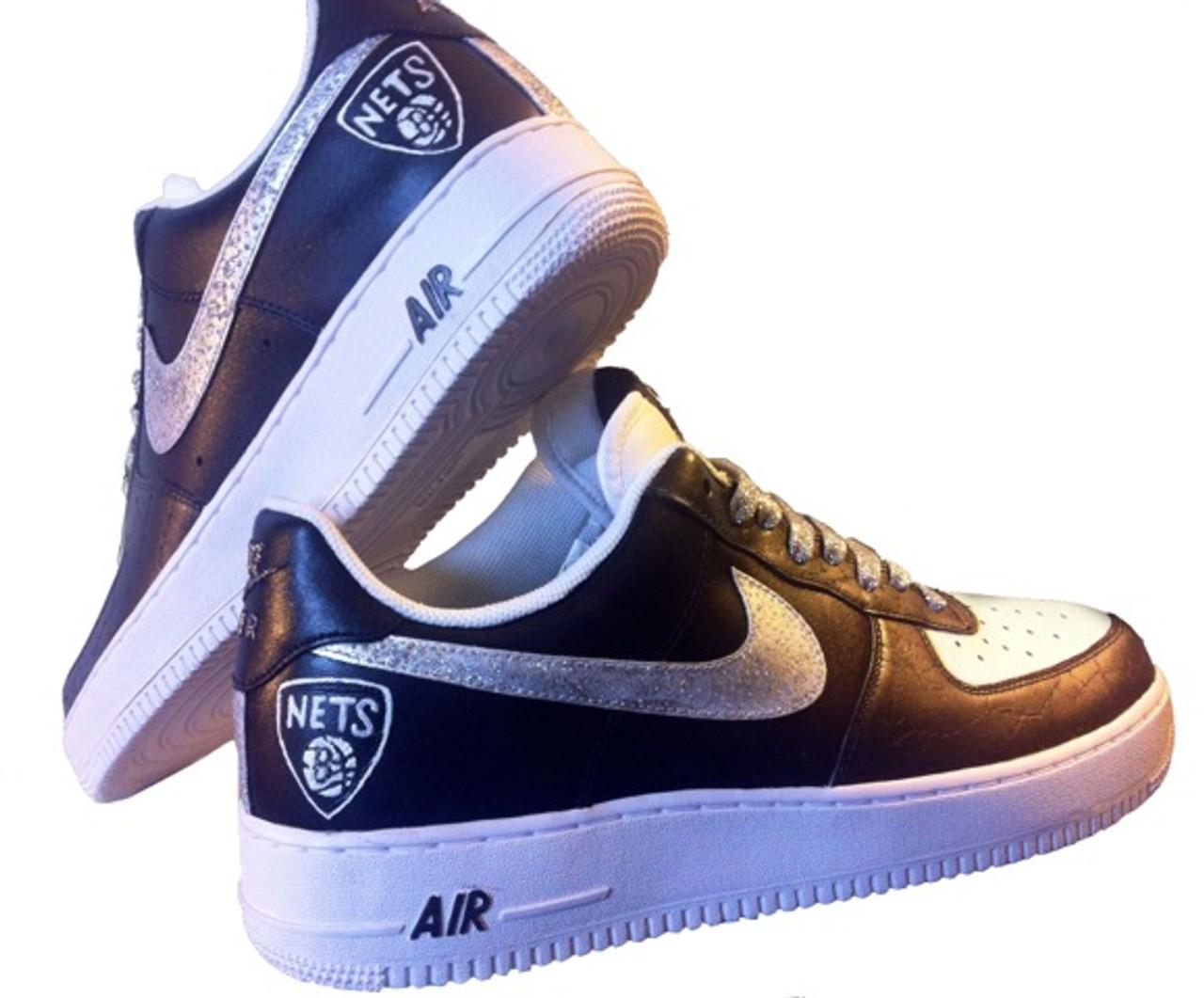 Remixdakicks Airforce One Brooklyn Custom Sneakers Nets MpzGqUSV