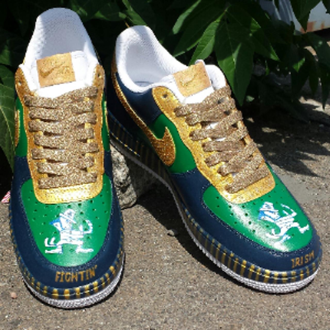 Fighting Irish Custom Painted AF1's Sneakers Pt 2