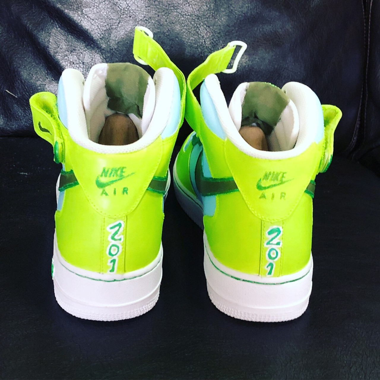 Neon Scene Custom Painted AF1 Sneakers