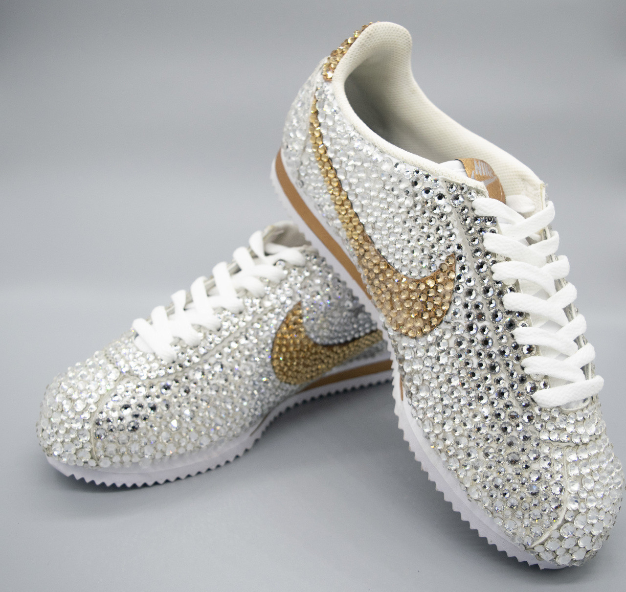low priced 5cbed fc551 Iced out Cortez Nike Sneakers ...