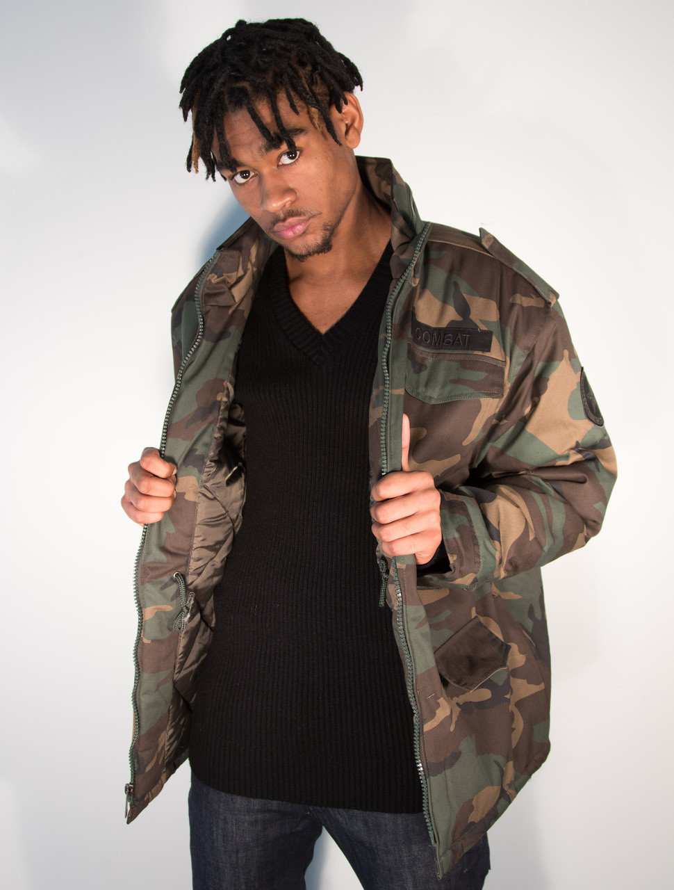 Mens Padded Combat Camo Jacket - Hip Hop Closet fda83be7f3b