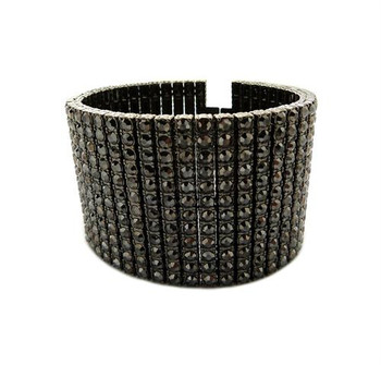 Hematite All Ice Bracelet Cuff