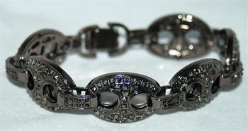 Bubble Link Hematite Bracelet