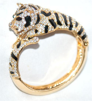Panther Gold Plated Bangle