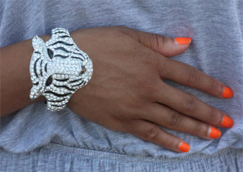 Silver Panther Bangle