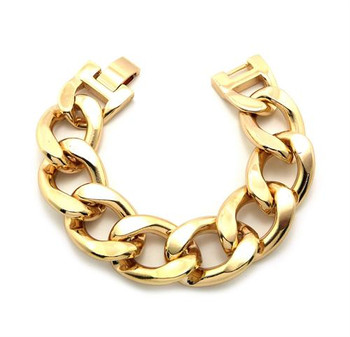 Gold Aluminum Link Bracelet