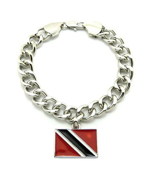 Silver Trinidad and Tobago Bracelet