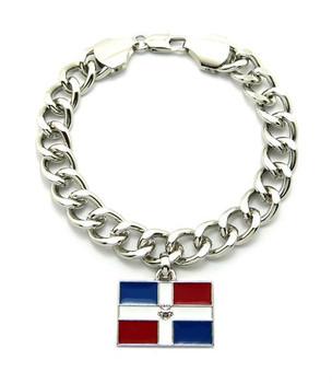 Silver Dominican Republic Bracelet