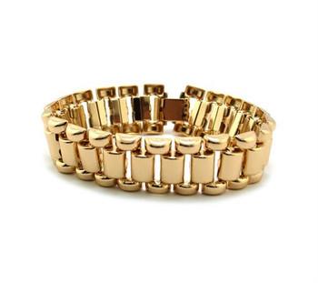 Gold Link Design Bracelet
