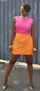 Harper Mini Pink Sheep Dress