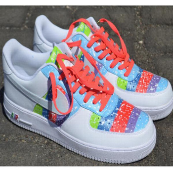 Remixdakickz Blue Dots Custom Air Force One Sneakers