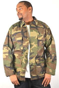 Woodland BDU Military Shirt Jacket
