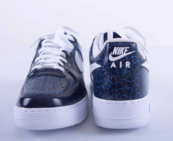 REMIXDAKICKZ Blue Croc Custom Painted AF1 Sneakers