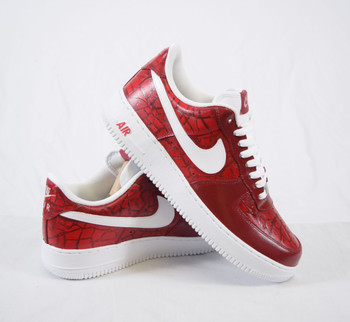 Burgundy Croc Custom Air Force Ones Sneakers
