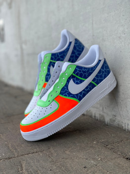 Crackle Custom Hand Painted Air Force One Sneakers
