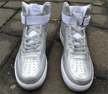 Silver Dollar Custom Air Force One Sneakers