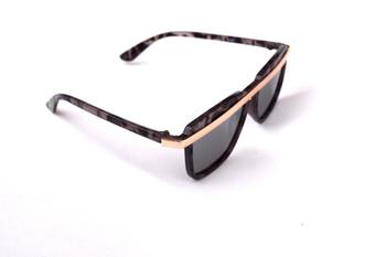 Brown Marble Bar Sunglasses
