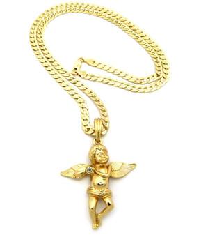 Single Cherub Gold Chain