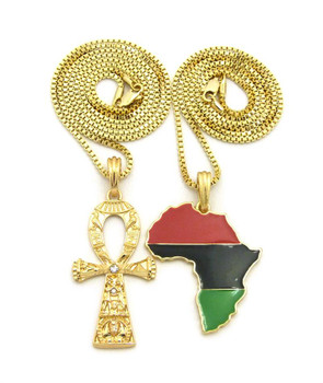 Ankh and Africa Chain Set