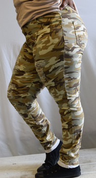 Khaki Camo Ripped Ladies Jeans