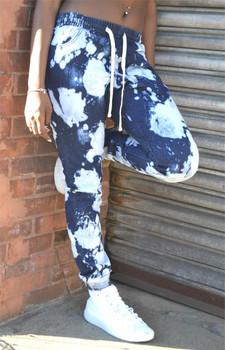 Acid Washed Ladies Indigo Jogger Jeans