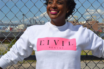 Civil Clothing Box Crop Crew Neck Sweater