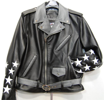 G Gator Black Stars Motorcycle Jacket
