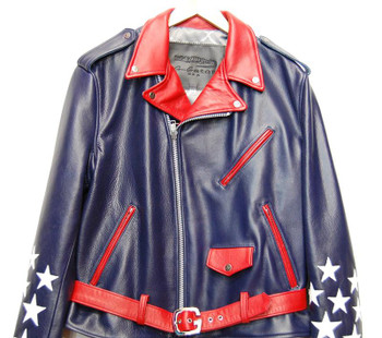 G Gator Blue Stars Motorcycle Jacket